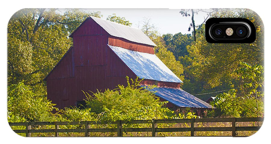 Barn IPhone X Case featuring the photograph Morning Barn by Jill Brooks