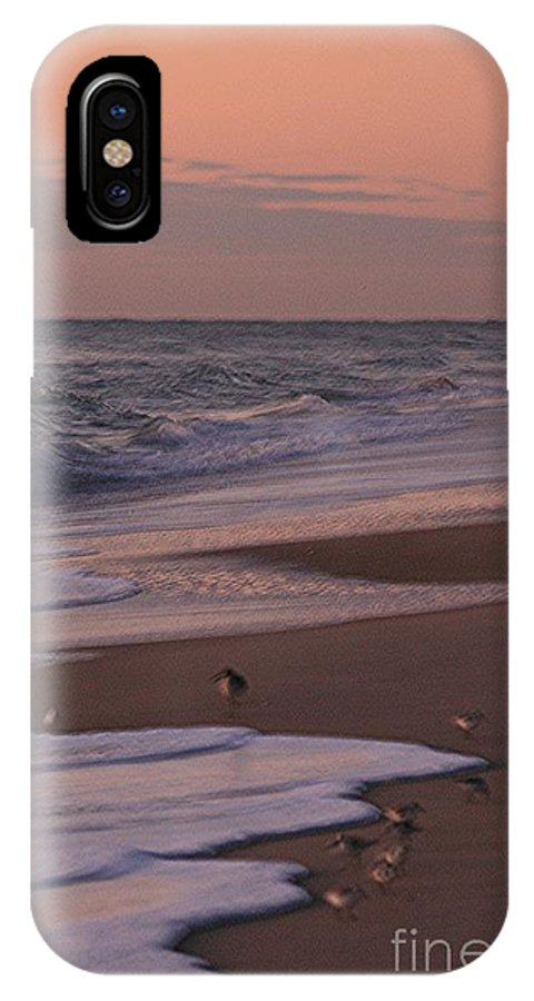 Beach IPhone Case featuring the photograph Morning Birds At The Beach by Nadine Rippelmeyer