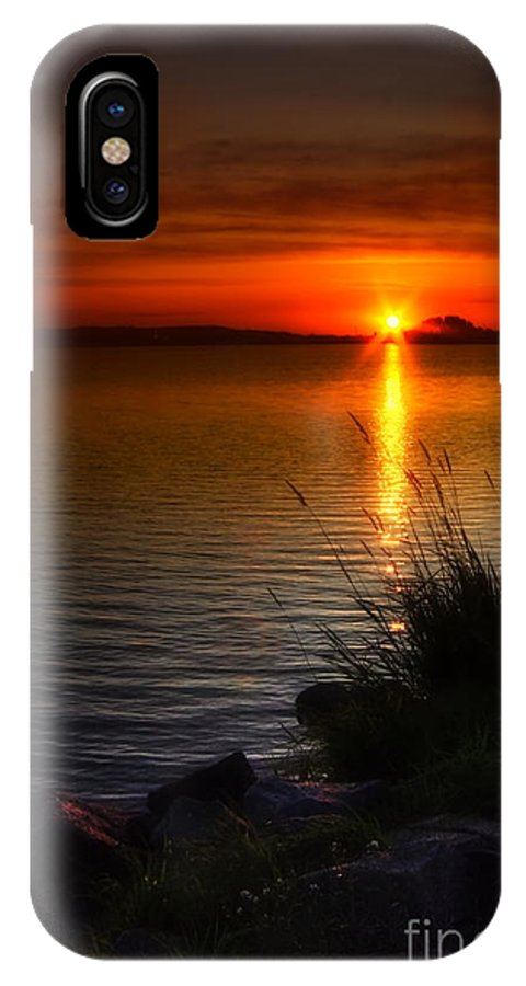 Art IPhone X Case featuring the photograph Morning By The Shore by Veikko Suikkanen