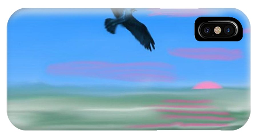 Landscape IPhone X Case featuring the digital art Morning Flight. by Dr Loifer Vladimir