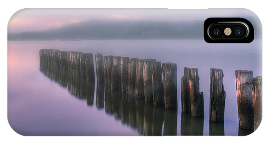 Art IPhone X Case featuring the photograph Morning Fog by Veikko Suikkanen