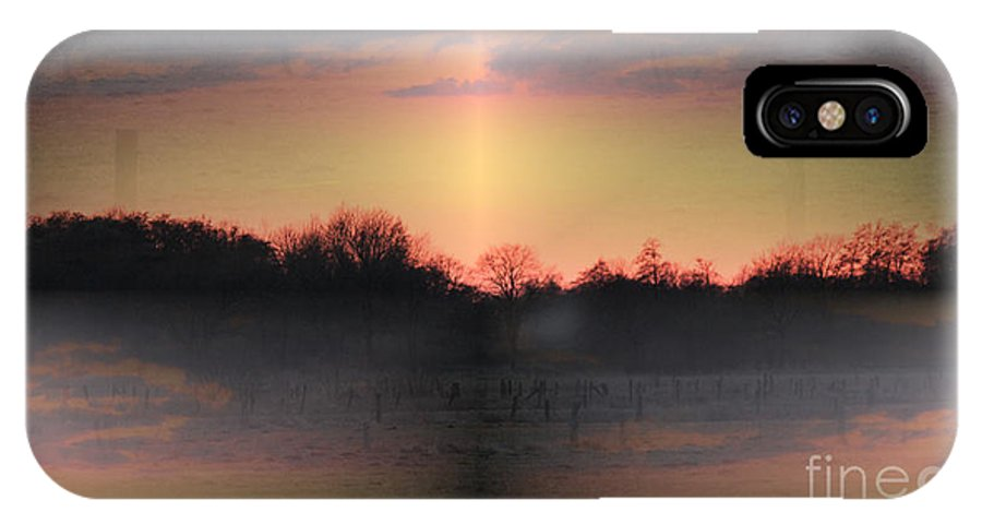 Sunrise IPhone X Case featuring the photograph Morning Glow On A Frosty Day by Four Hands Art