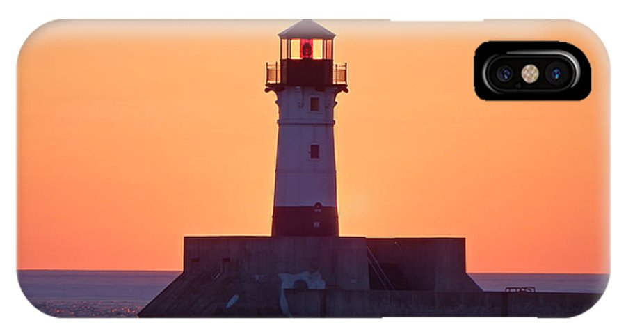 Lighthouses IPhone X Case featuring the photograph Morning Light by Alison Gimpel