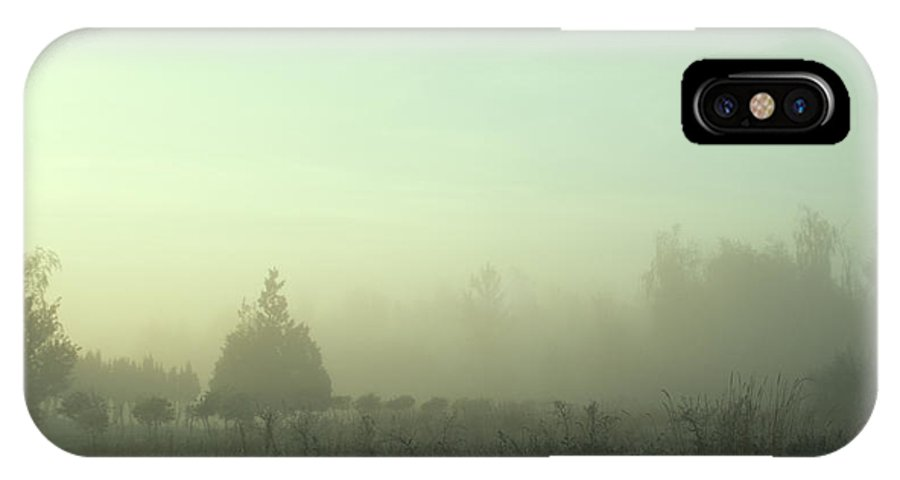 Fog IPhone X Case featuring the photograph Morning Mist by Argun Tekant