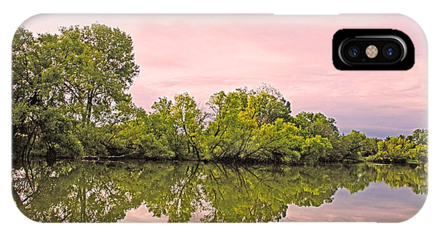 Morning IPhone X Case featuring the photograph Morning Reflections by Barbara Dean