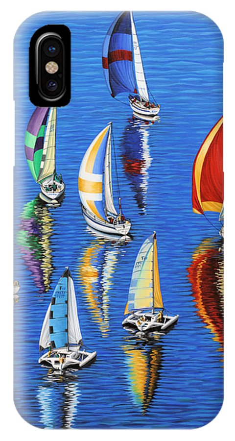 Ocean IPhone X Case featuring the painting Morning Reflections by Jane Girardot