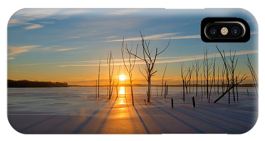 Frost Bite IPhone X Case featuring the photograph Morning Stretch by Michael Ver Sprill