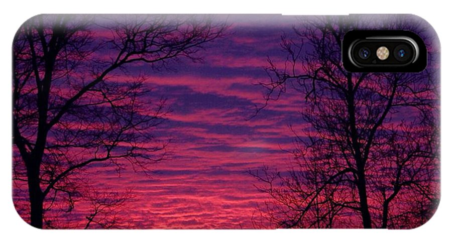 Sunrise IPhone X / XS Case featuring the photograph Morning Sunrise by Brett Beaver