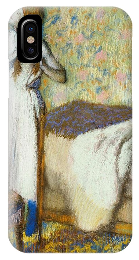 Degas IPhone X Case featuring the painting Morning Toilet by Edgar Degas