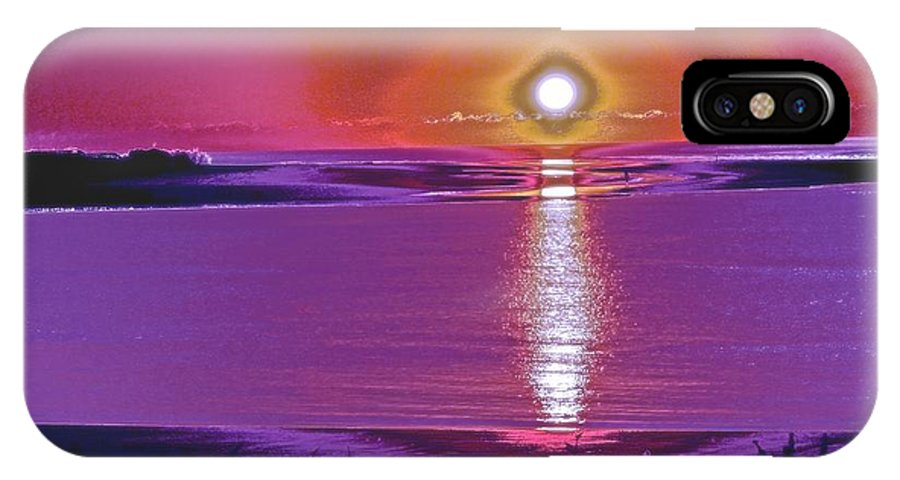 Breach Inlet IPhone X Case featuring the painting Morning Vibrations by Virginia Bond