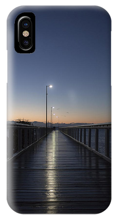 Pier IPhone X Case featuring the photograph Morning Walk by Michael James