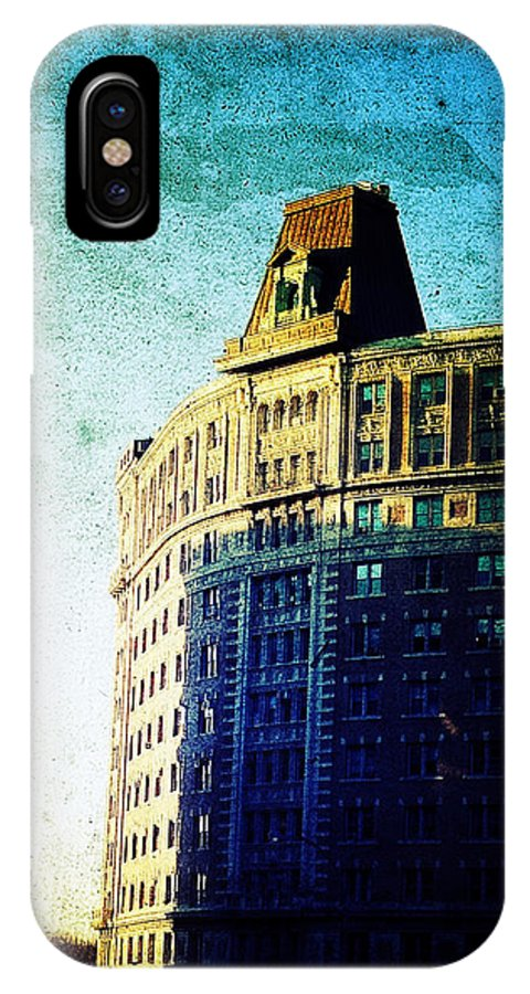 Nyc IPhone X Case featuring the photograph Morningside Heights Blue by Natasha Marco