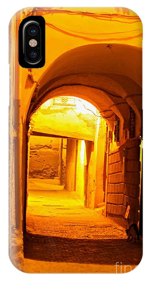 Alley Way IPhone X Case featuring the photograph Moroccan Gold by Michael Cinnamond