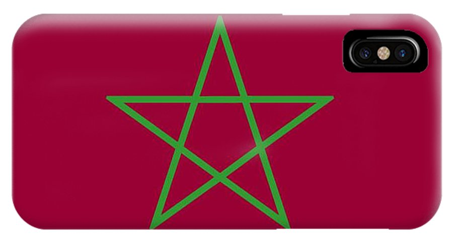 Morocco IPhone X Case featuring the digital art Morocco Flag by Frederick Holiday
