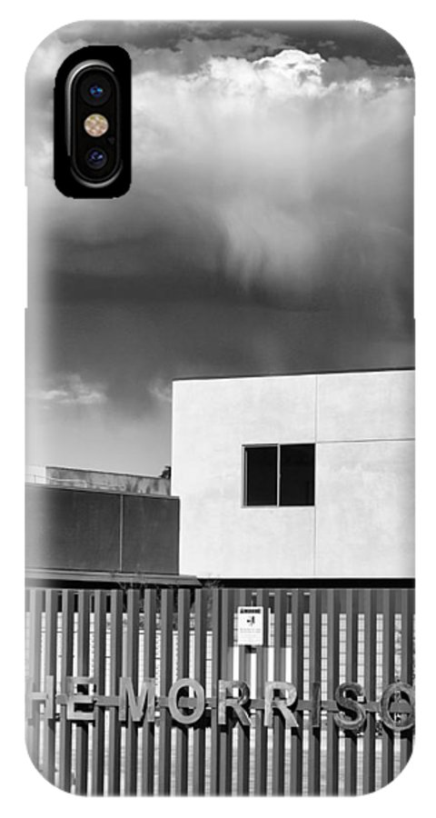 Morrison IPhone X Case featuring the photograph Morrison Cloud Bw Palm Springs by William Dey