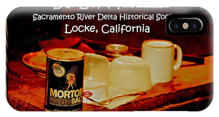 Morton Salt IPhone X / XS Case featuring the digital art Morton Meets Locke by Joseph Coulombe