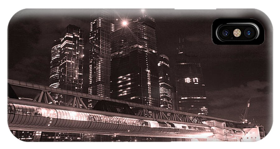 Night IPhone X Case featuring the photograph Moscow At Night by Lali Kacharava
