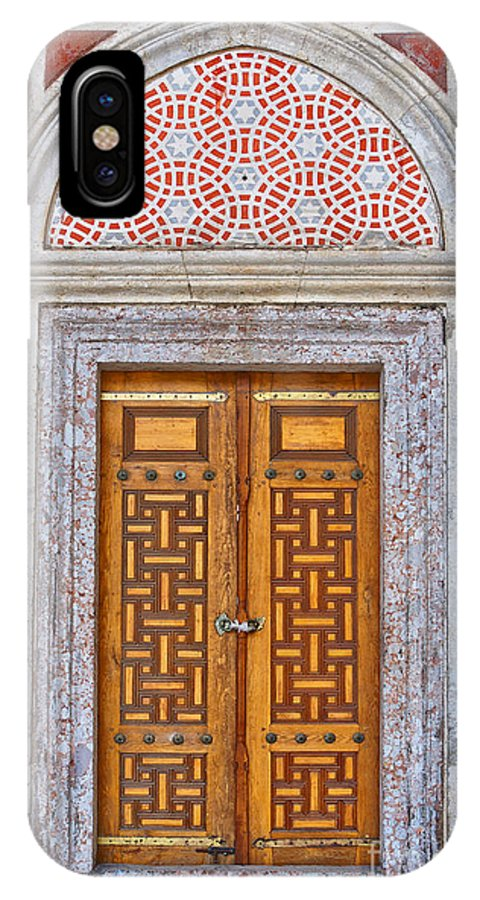 Door IPhone X / XS Case featuring the photograph Mosque Doors 04 by Antony McAulay