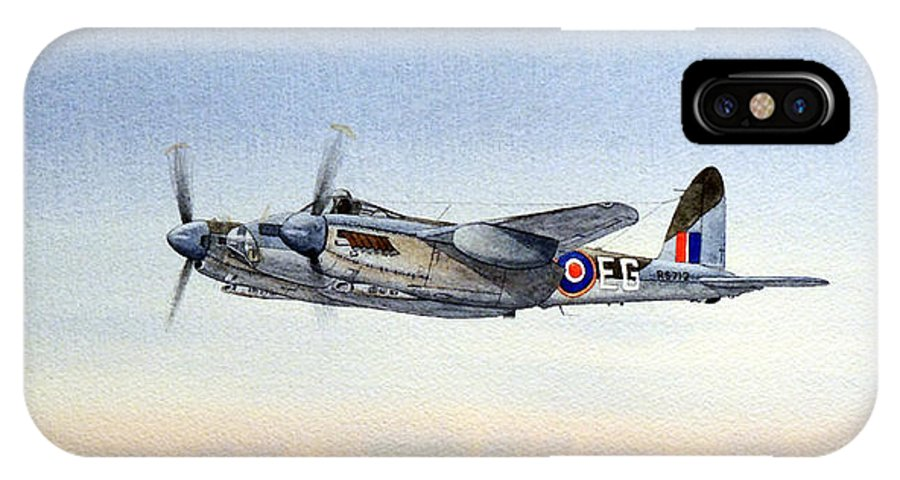 Mosquito Aircraft IPhone X Case featuring the painting Mosquito Aircraft by Bill Holkham