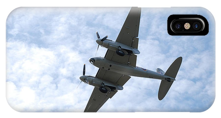 Aviation IPhone X Case featuring the photograph Mosquito On Final Approach by Mark Alan Perry