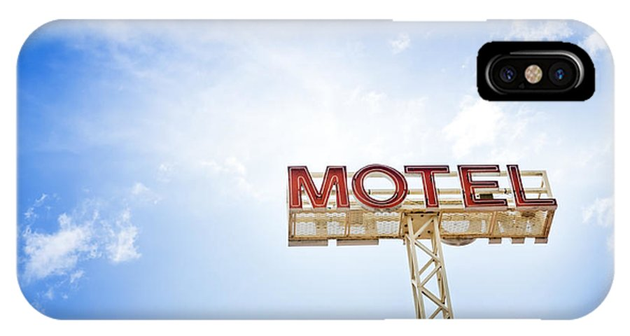 Abandoned IPhone X Case featuring the photograph Motel Sign by Tim Hester