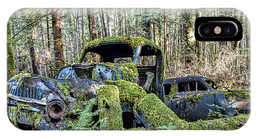 Old Cars IPhone X Case featuring the photograph Mother Nature Rules Supreme by Peggy Collins