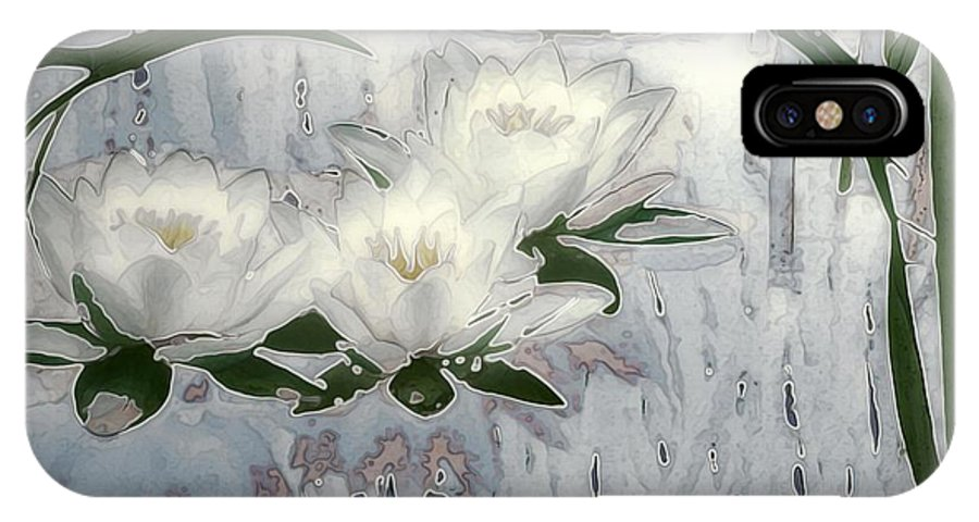 Asian IPhone X Case featuring the painting Motif Japonica No. 1 by RC DeWinter