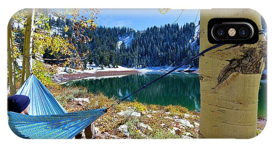 Lake IPhone X Case featuring the photograph Mounain Relaxing by Ben Girardi