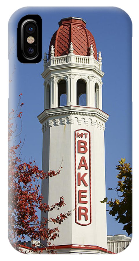 Bellingham IPhone X Case featuring the photograph Mount Baker Theater Tower Bellingham by John Mitchell