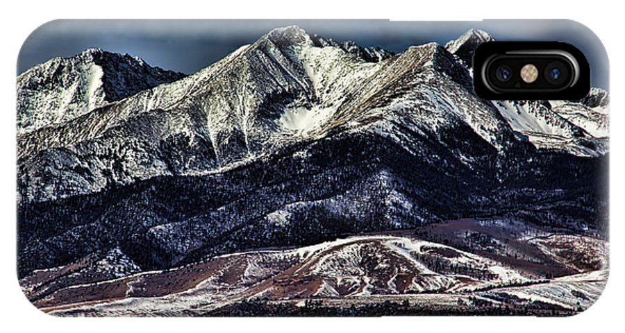 Mount Blanca IPhone X Case featuring the photograph Mount Blanca by Jon Burch Photography