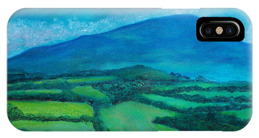 Pastel IPhone X Case featuring the painting Mount Leinster Ireland by Caroline Cunningham