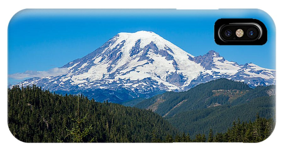 Landscape IPhone X Case featuring the photograph Mount Rainier by John M Bailey