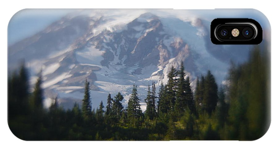 Mount Rainier IPhone X Case featuring the photograph Mountain Haze by Rylee Stearnes