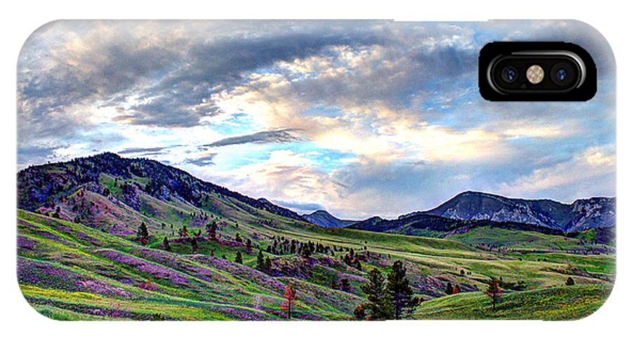 Landscape IPhone X Case featuring the photograph Mountain Meadow by John Lee