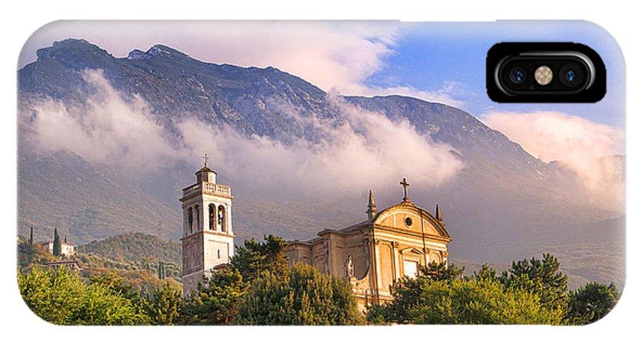 Lake Garda IPhone X Case featuring the photograph Mountain Mist by Brenda Kean