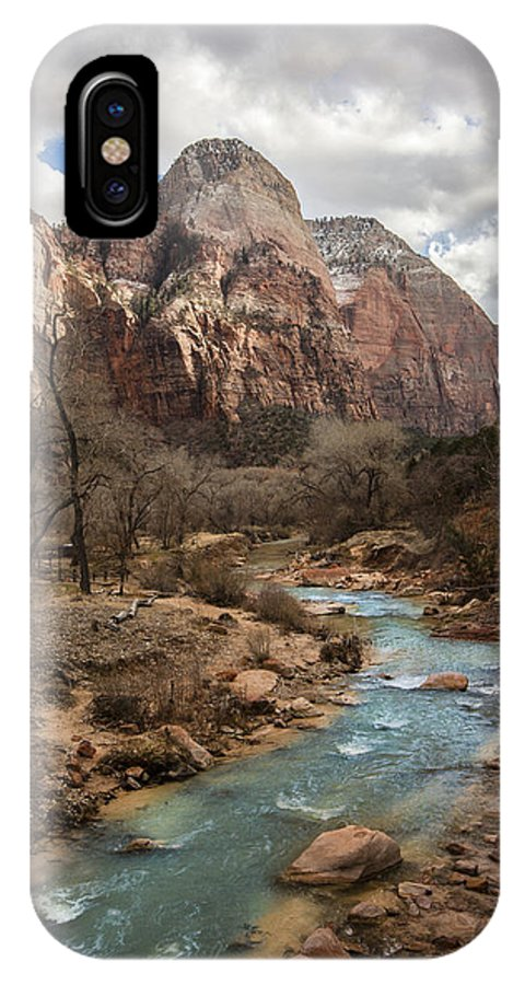 Mountain Of The Sun IPhone X Case featuring the photograph Mountain Of The Sun by Rob Travis