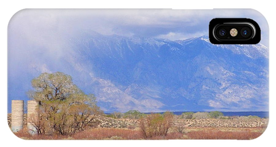Sky IPhone X Case featuring the photograph Mountain Rain by Marilyn Diaz