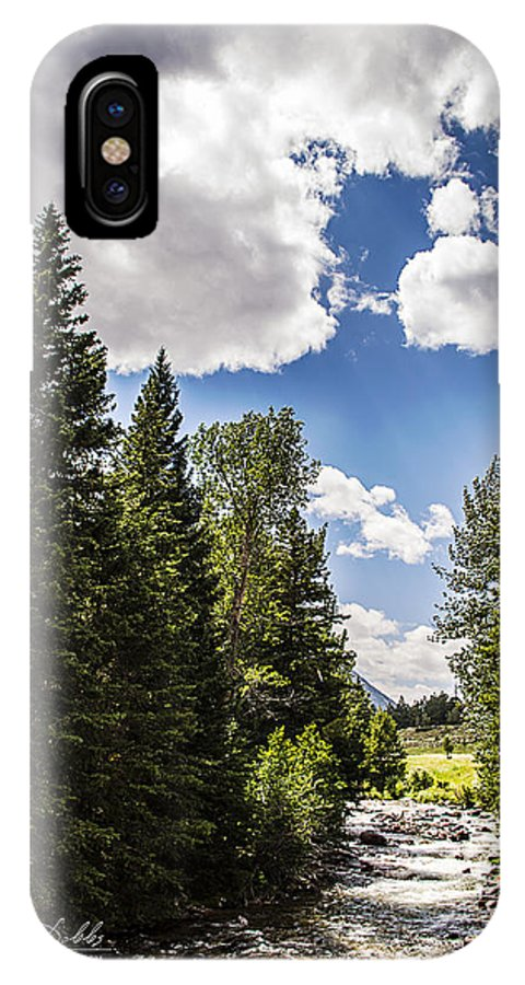 Mountain Stream IPhone X Case featuring the photograph Mountain Stream by Jessica Dobbs