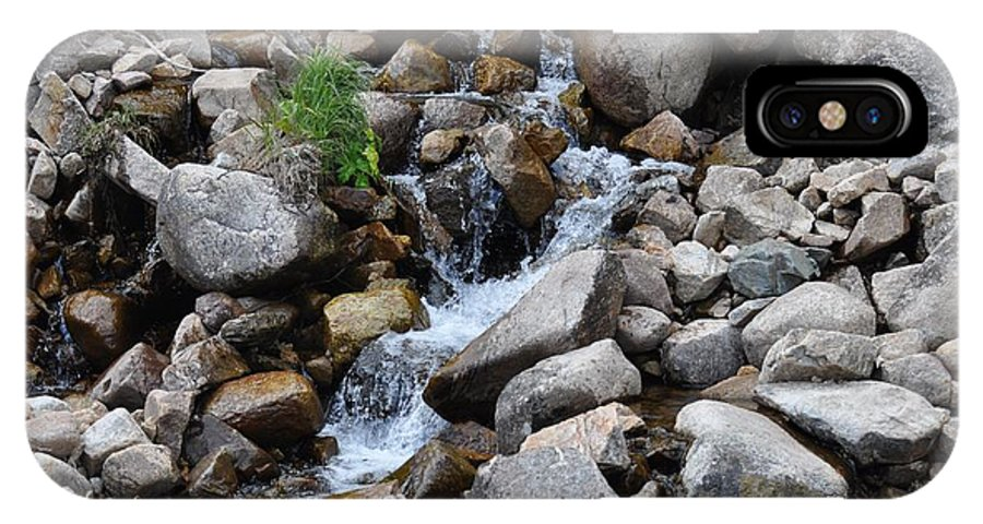 Rocks IPhone X Case featuring the photograph Mountain Stream by Teresa Howell