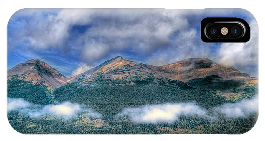 Mountains IPhone X Case featuring the photograph Mountain Tops by Naman Imagery
