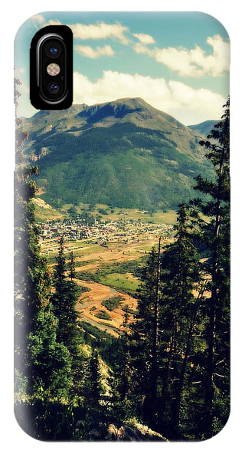 Silverton IPhone X Case featuring the photograph Mountain Village by Holly Storz