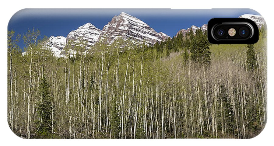 Maroon IPhone X Case featuring the photograph Mountains Co Maroon Bells 23 by John Brueske