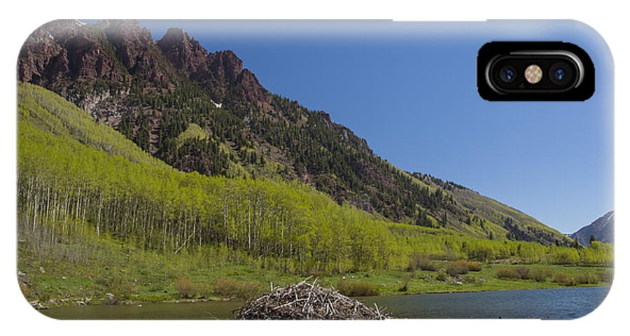 Sievers IPhone X Case featuring the photograph Mountains Co Maroon Lake 4 by John Brueske