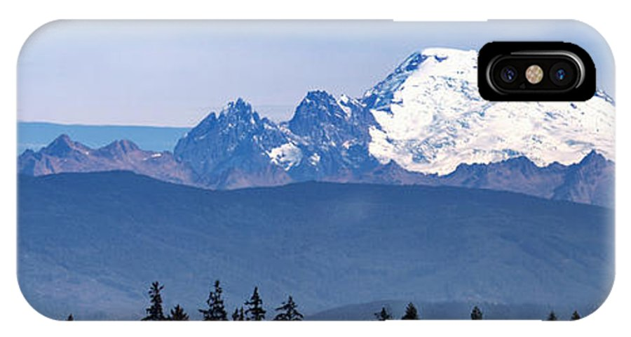 Mount Baker IPhone X Case featuring the photograph Mount Baker by Bob Stevens