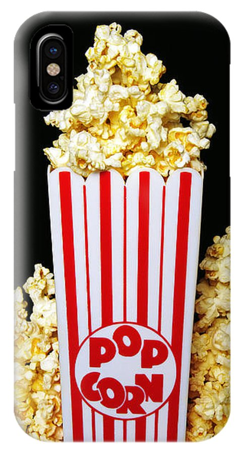 Popcorn Art IPhone X Case featuring the photograph Movie Night Pop Corn by Andee Design