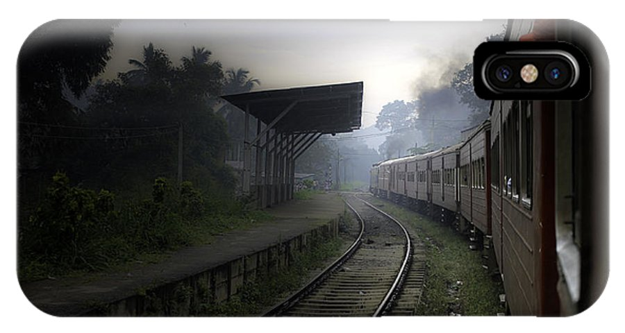Train IPhone X Case featuring the photograph Moving Train by Sanjeewa Marasinghe