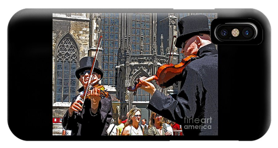 Buskers IPhone X Case featuring the photograph Mozart in Masquerade by Ann Horn
