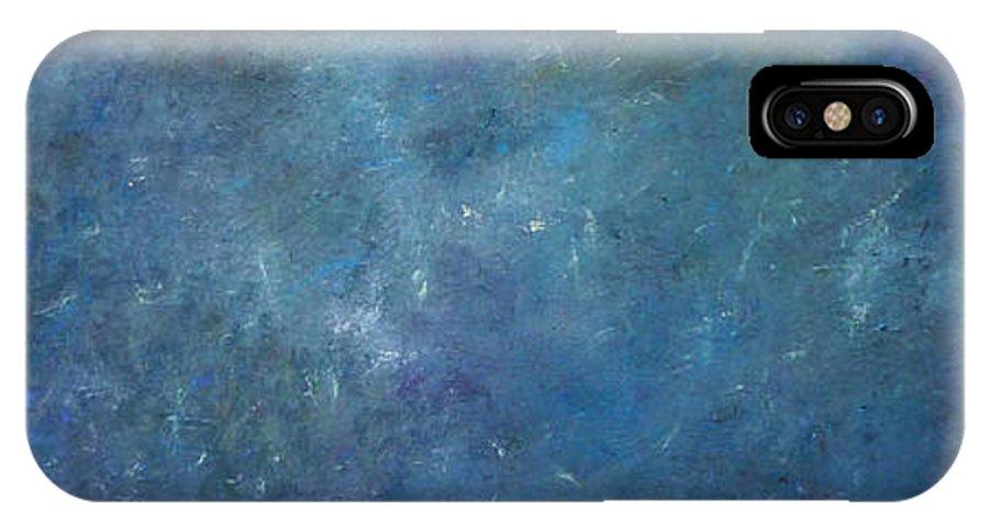 Derek Kaplan Art IPhone X Case featuring the painting Mr Blue Sky by Derek Kaplan
