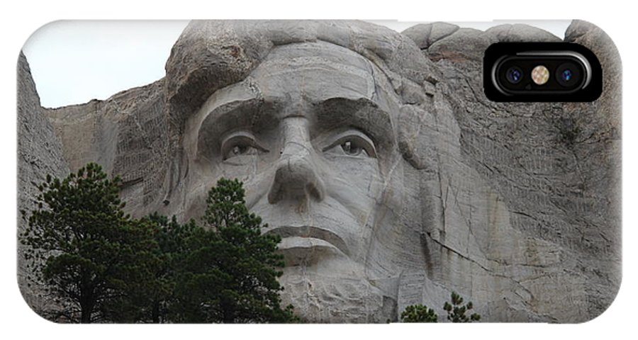 Mount Rushmore IPhone X Case featuring the photograph Mr Lincoln by Clayton Kelley