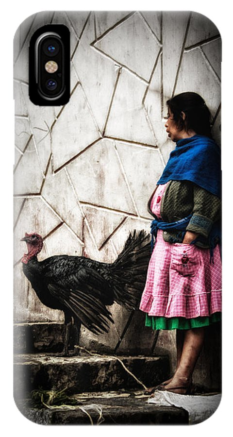 Cuetzalan IPhone X Case featuring the photograph Mrs. Turkey by Gerardo Borbolla